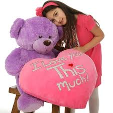 big valentines day teddy bears big 30in purple s teddy with plush i you