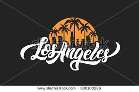 los angeles lettering tshirt design vector stock vector 588100586