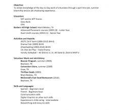 exles of teen resumes excellent how to write resume exles part time