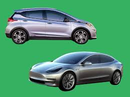 nissan leaf vs chevy bolt how chevy bolt compares to tesla model 3 business insider