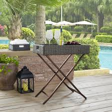 Palm Harbor Patio Furniture Crosley Co7206 Wg Palm Harbor Outdoor Resin Wicker Butler Tray Table