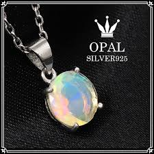 opal stone silver necklace images Shinjuku gin no kura precious opal silver necklace round cut jpg