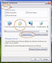 mettre icone sur le bureau changer l icône de mes documents xp