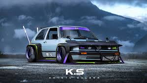 volkswagen racing wallpaper volkswagen golf mk2 rendering is totally bosozoku bad