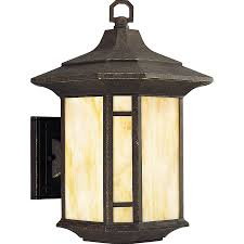 Arts And Crafts Ceiling Lights by Shop Progress Lighting Arts And Crafts 15 12 In H Weathered Bronze