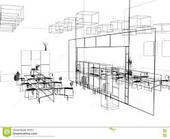 the modern office sketch stock photography image 3639092