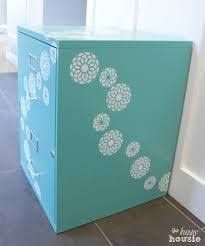 Chalk Paint On Metal Filing Cabinet One Bliss Fully Flowered Chalk Painted Stencilled Filing Cabinet