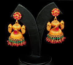antique gold jhumka earrings antique gold jhumkas gold jewellery designs