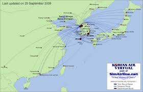 Copa Airlines Route Map by Korean Air Virtual Destinations
