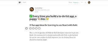 every time you build a to do list app a puppy dies