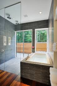 simple modern contemporary bathroom design ideas with glass window