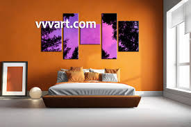 5 piece tree scenery purple wall decor bedroom wall decor 5 piece pictures mountain group canvas scenery huge pictures