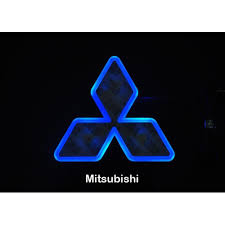 mitsubishi badge led car tail logo blue light auto badge light for mitsubishi
