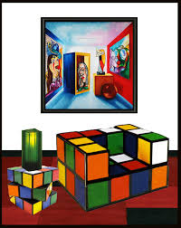picasso the cubist oil painting by k madison moore k madison