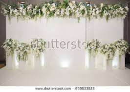 wedding backdrop images wedding backdrop flower wedding decoration stock photo 699533923