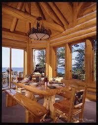 Log Cabin Dining Room Furniture Best Log Home Dining Rooms Pictures House Design Interior