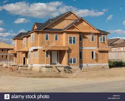 house construction ontario canada stock photo royalty free