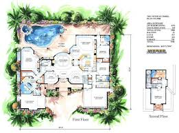 luxury house plans with pools floor plan with walkout construction large elevators