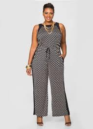 wide leg jumpsuits grid print wide leg jumpsuit plus size dresses stewart