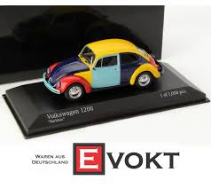 Volkswagen Vw Beetle 1200 Harlequin Yellow Red Light Blue Purple 1