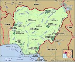 nigeria physical map states and their capitals connect nigeria