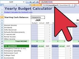 Budget Calculator Excel Spreadsheet How To Create An Excel Financial Calculator 8 Steps