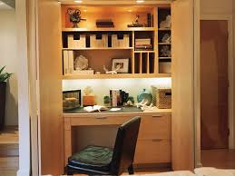 Closet Office Desk Traditional Home Office Desk A Closet In This Transitional