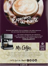 mr coffee cafe barista espresso maker bvmc ecmp1000 black