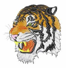 tiger embroidery design machine embroidery