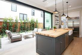 Outdoor Glass Patio Rooms - kitchen with sliding glass patio doors transitional kitchen