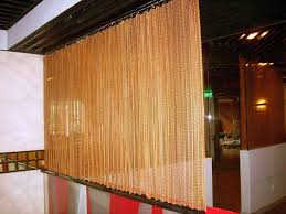 Metal Coil Drapery Mesh Curtain Metal Mesh Curtains Decorative Curtain Leading In The