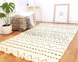 Rugs Home Decor White And Black Rug Ialexander Me