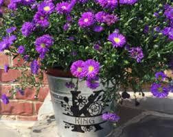 personalized flower pot custom flower pot etsy