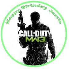 call of duty cake topper call of duty modern warfare 3 edible cake topper