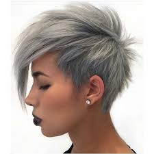 funky hairstyle for silver hair 18 simple easy short pixie cuts for oval faces short haircuts
