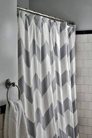Silver And White Shower Curtain Trending In Bathroom Decor 50 Shades Of Grey Shower Curtains