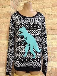xhilaration black godzilla sweater size dinosaur jumper 2x 18