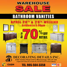 Bathroom Vanities In Mississauga Warehouse Sale Of Bathroom Vanities Allsales Ca