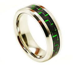 green rings images Cobalt 8mm ring with black and green carbon fiber in men 39 s rings jpg