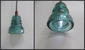 Antique Insulator Pendant Lights Glass From The Past Make A L With Vintage Power Line