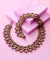 collar necklace beads images Jewelry trends report and free beaded choker necklace projects jpg