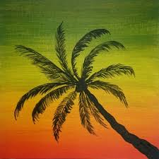Pom Trees How To Paint Palm Tree Easy Painting Youtube