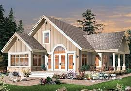 country cottage floor plans w3945 open floor plan lakefront country cottage master bedroom on