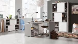 Schreibtisch Grau Hochglanz Pratico In Beton Weiß Hochglanz Lack