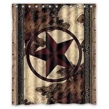 Texas Star Bathroom Accessories by Western Texas Lone Star Cowboy Shower Curtain