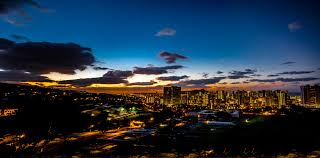 Honolulu City Lights Standing Right Outside The Gate Of Pu U2026 Flickr