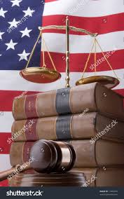 Flag Law Stack Law Books Gavel Scales Justice Stock Photo 17456473