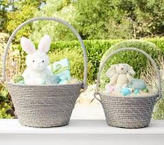bunny baskets white quinn collapsible handle easter baskets pottery barn kids