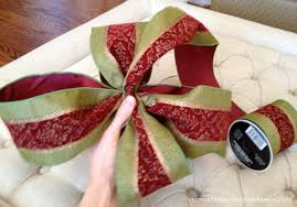 christmas wired ribbon how to make a bow a step by step tutorial