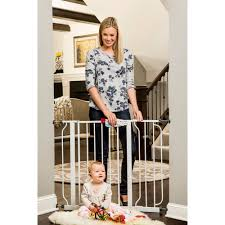 regalo easy step walk through baby gate pressure mount with